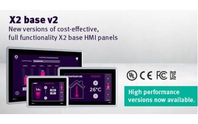Индустриални панели X2 base v2 HP с нови високопроизводителни модели