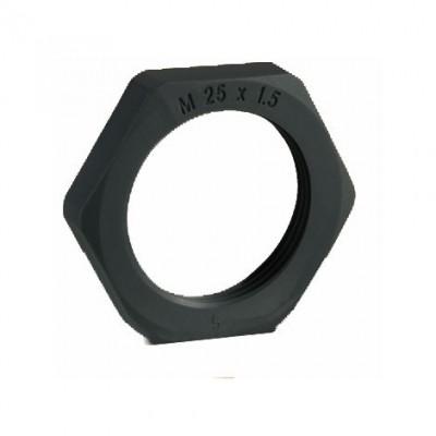 Гайка, от полиамид PA6, с размери Pg 09, цвят черен