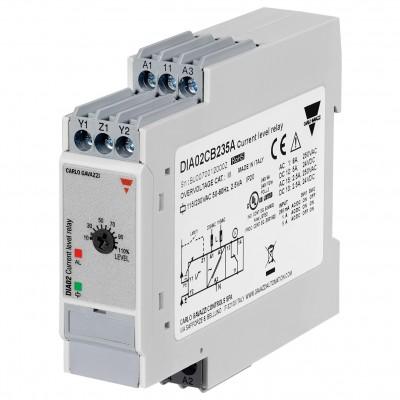 Реле за мониторинг на максимален ток, ON/OFF реле, обхват 0.2 - 5 A AC/DC, с 1 CO - 8 A / 250 V AC, захранване 24-48 V AC/DC