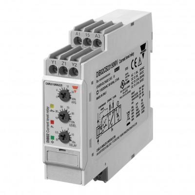 Реле за мониторинг на максимален ток, минимален ток, обхват 6 - 150 mV AC/DC, с 1 CO - 8 A / 250 V AC, захранване 24-48 V AC/DC