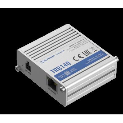 TRB140 е ултрамалък, лек и енергийно ефективен индустриален шлюз, оборудван с критични за LTE Cat 4 възможности, Gigabit Ethernet интерфейс, цифрови входове / изходи и micro-USB порт
