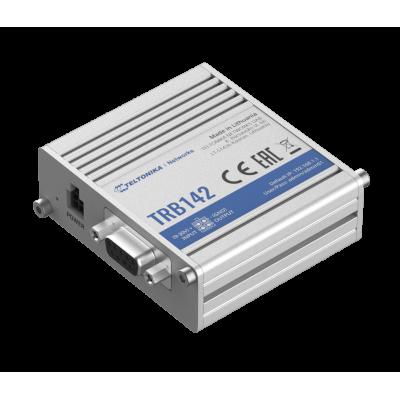 TRB142 е индустриален LTE Cat 1 шлюз с широко използван интерфейс RS232 за дистанционно управление на устройства, LAN