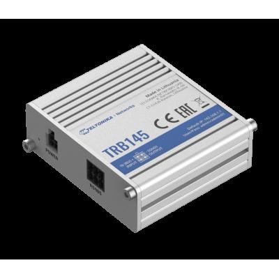 TRB145 е индустриелен LTE Cat 1 шлюз, оборудван с интерфейс RS485, LAN