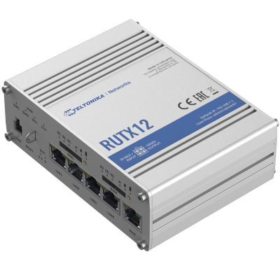 RUTX12 е най-мощният Dual LTE Cat 6 рутер в портфолиото на Teltonika, 5 x Gigabit Ethernet портa, Wave-2 802.11ac Dual-Band Wi-Fi, Bluetooth LE, USB и GPS интерфейси и 2 SIM правят това устройство незаменимо в приложения, където загубата на връзка не е оп