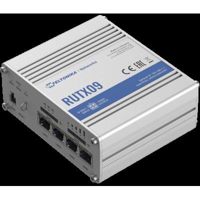 RUTX09 е LTE-A Cat 6 клетъчен IoT рутер с Dual-SIM и 4 Gigabit Ethernet интерфейси.